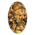 African Spirit in Ochre Sticker (Oval)