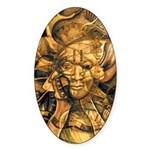 African Spirit in Ochre Sticker (Oval 10 pk)