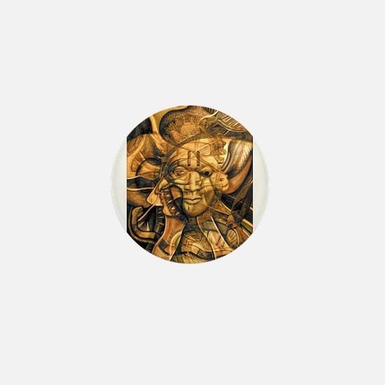 African Spirit in Ochre Mini Button