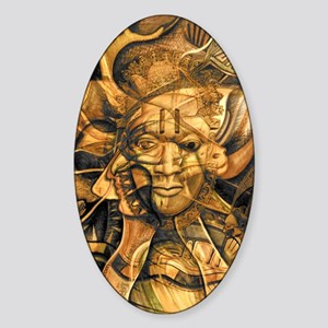 African Spirit in Ochre Sticker (Oval)