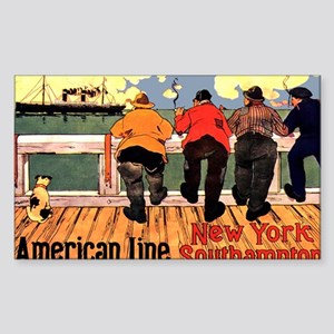 Americam Liners Sticker (Rectangle)