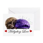 Hedgehog Love Greeting Cards (Pk of 10)