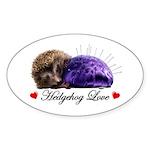 Hedgehog Love Sticker (Oval 10 pk)