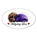 Hedgehog Love Sticker (Oval)