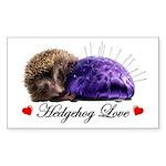 Hedgehog Love Sticker (Rectangle)