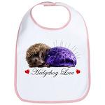 Hedgehog Love Bib
