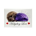 Hedgehog Love Rectangle Magnet (100 pack)