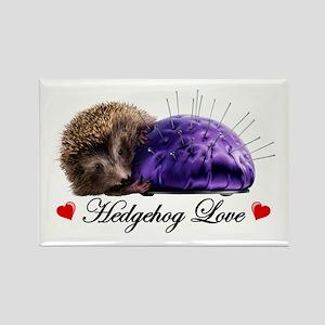 Hedgehog Love Rectangle Magnet