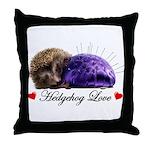Hedgehog Love Throw Pillow