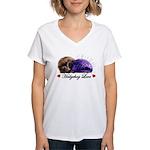 Hedgehog Love Women's V-Neck T-Shirt