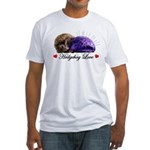 Hedgehog Love Fitted T-Shirt