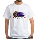 Hedgehog Love White T-Shirt