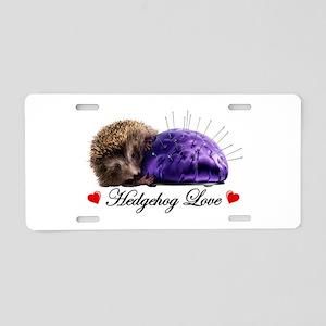 Hedgehog Love Aluminum License Plate