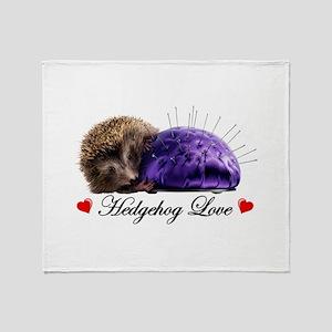 Hedgehog Love Throw Blanket