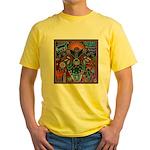 Chapala Huichol Yellow T-Shirt