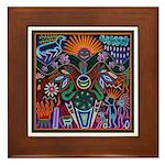 Chapala Huichol Framed Tile