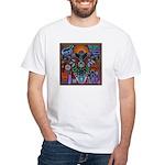 Chapala Huichol White T-Shirt