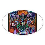 Chapala Huichol Sticker (Oval 10 pk)