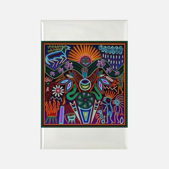 Chapala Huichol Rectangle Magnet