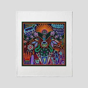 Chapala Huichol Throw Blanket