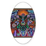 Chapala Huichol Sticker (Oval)