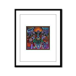 Chapala Huichol Framed Panel Print