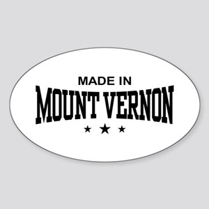 Made In Mount Vernon Sticker (Oval)