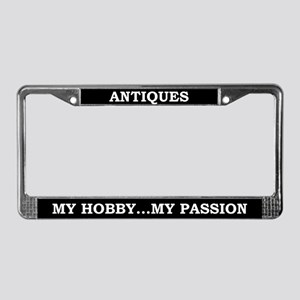 Antiques License Plate Frame