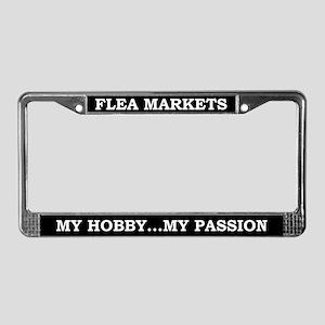 Flea Markets License Plate Frame