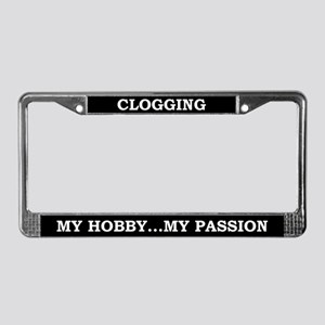 Clogging License Plate Frame