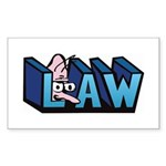 Law Sticker (Rectangle)
