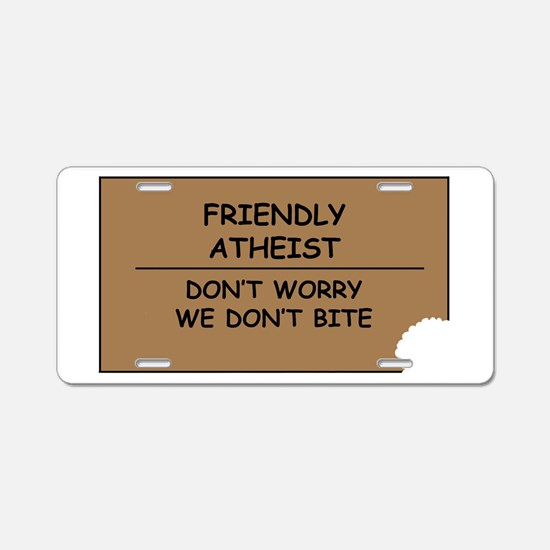Friendly Atheist Aluminum License Plate