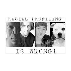 Racial Profiling 38.5 x 24.5 Wall Peel