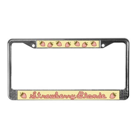 Strawberry Blonde License Plate Frame