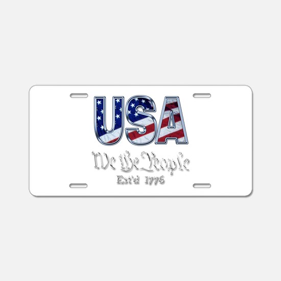 USA Aluminum License Plate