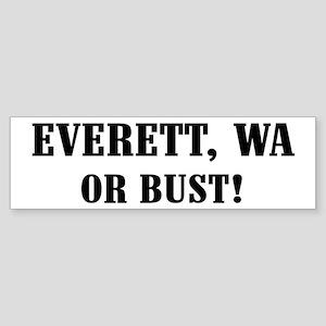 Everett or Bust! Bumper Sticker