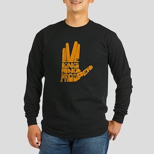 Live long and Prosper Long Sleeve Dark T-Shirt