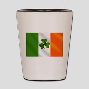 Irish Shamrock Flag Shot Glass