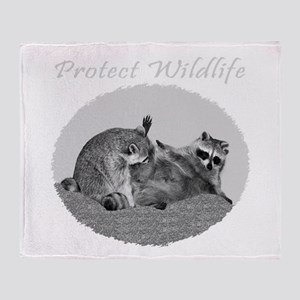 Protect Wildlife Throw Blanket