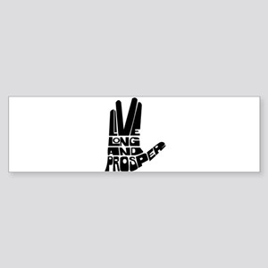 Live long and Prosper Sticker (Bumper)