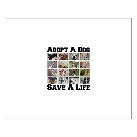 Adopt A Dog Save A Life Small Poster