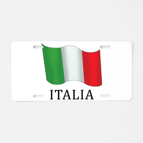 Italia Flag Aluminum License Plate
