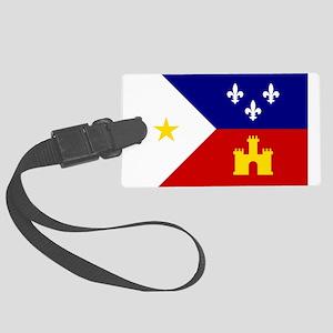 Flag of Acadiana Louisiana Large Luggage Tag