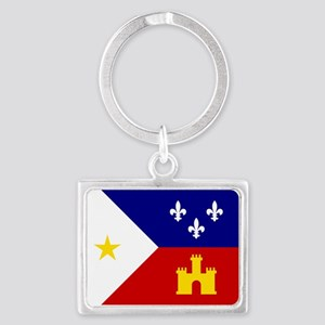 Flag of Acadiana Louisiana Keychains