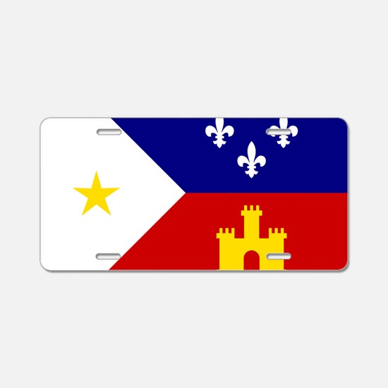 Flag of Acadiana Louisiana Aluminum License Plate
