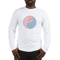 Yin Yang Cat Dog Long Sleeve T-Shirt