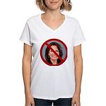 No Michele 2012 Women's V-Neck T-Shirt