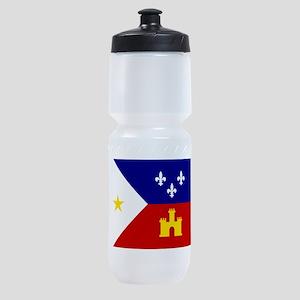 Flag of Acadiana Louisiana Sports Bottle