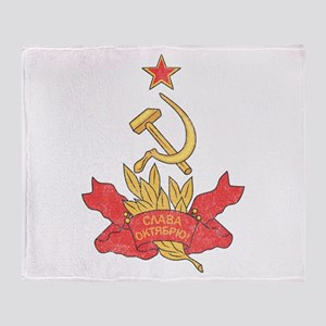 Vintage Soviet Throw Blanket