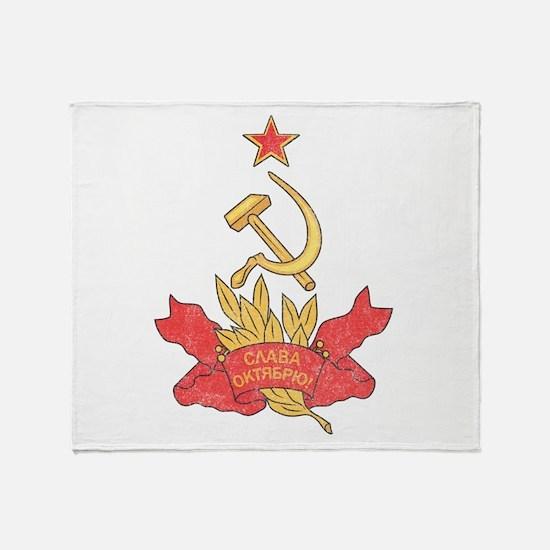 Vintage Soviet Throw Blanket